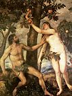 Titian The Fall of Man painting