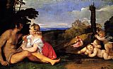 Titian The Three Ages of Man painting