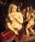 Titian Venus in front of the mirror painting