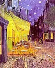 Vincent van Gogh Cafe Terrace at Night painting