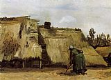 Vincent van Gogh Cottage with Woman Digging painting