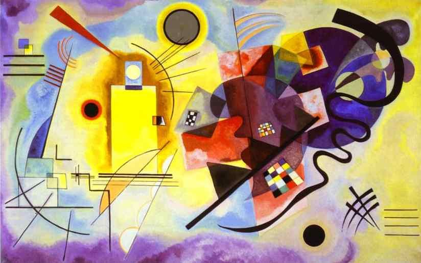 Wassily Kandinsky Yellow Red Blue