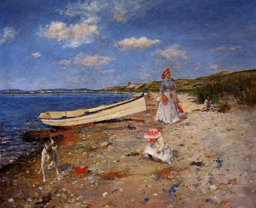 William Merritt Chase A Sunny Day at Shinnecock Bay