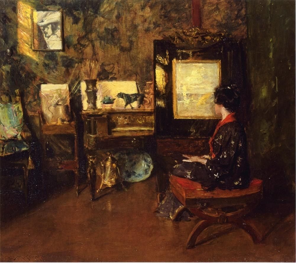 William Merritt Chase Alice in the Shinnecock Studio