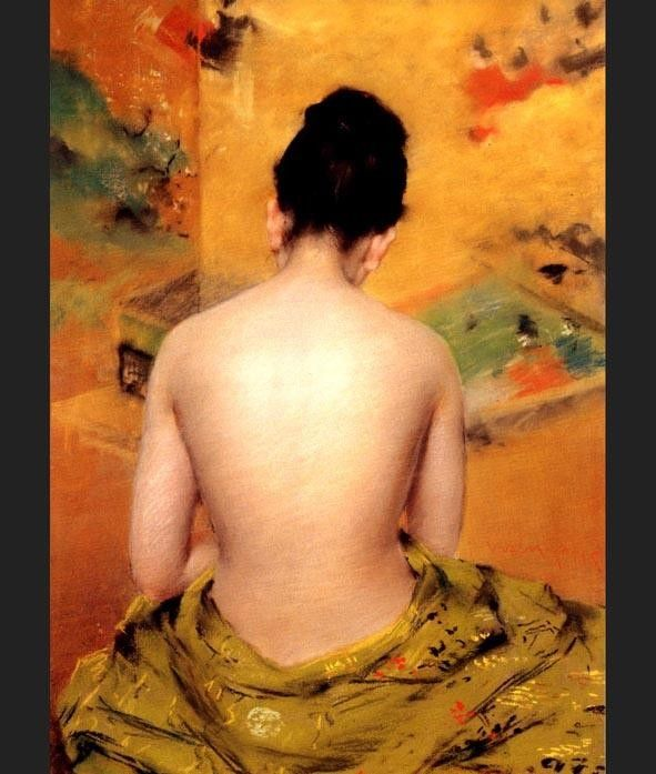 William Merritt Chase Back of a Nude
