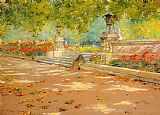 two sisters on the terrace Canvas Prints - Terrace Prospect Park
