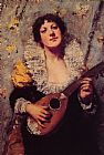 William Merritt Chase The Mandolin Player painting