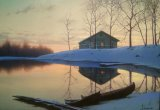 Alexei Butirskiy Peaceful Sunset Ap painting