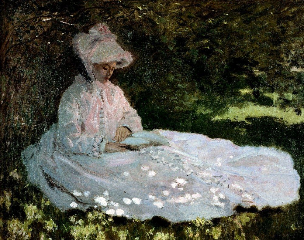 Claude Monet A Woman Reading