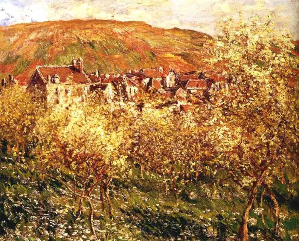 Claude Monet Apple Trees In Blossom