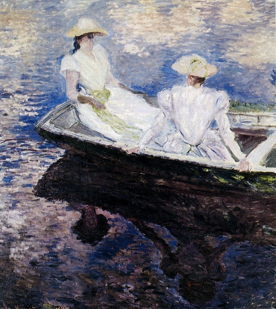 Claude Monet Girls In A Boat