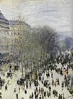 Street paintings - Boulevard des Capucines by Claude Monet
