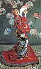 Claude Monet Camille Monet in Japanese Costume painting