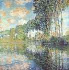 Claude Monet Poplars on the Epte painting