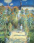 Claude Monet The Artist Garden at Vetheuil painting