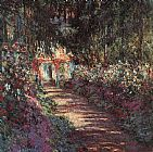 Church paintings - The garden in flower by Claude Monet