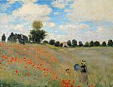 Claude Monet Wild Poppies Near Argenteuil painting