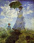 Claude Monet Woman with a Parasol painting