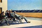 Edward Hopper People In The Sun painting