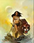 Frank Frazetta Woman with Tiger painting