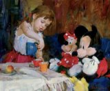 Garmash Tea with Mickey And Minnie painting