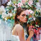 Garmash Wild Flower painting