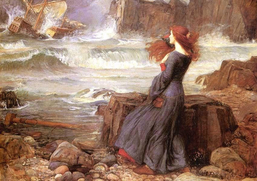 John William Waterhouse Miranda - The Tempest