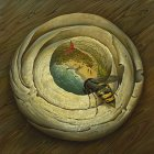 Vladimir Kush One Flew Over The Wasp's Nest painting