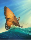 Vladimir Kush Winged Surfer painting